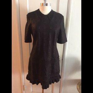 KENZO BLACK SPARKLE STRETCH SHORT DRESS
